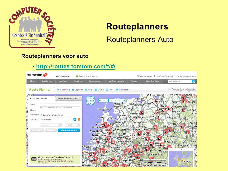 Routeplanners Routeplanners Auto Routeplanners voor auto
