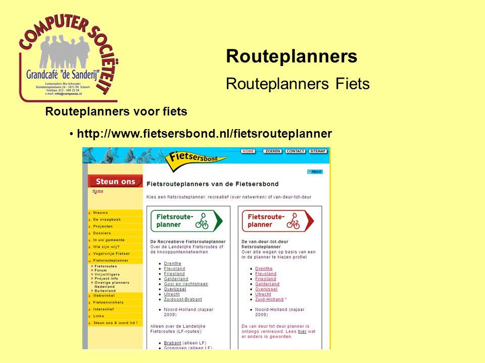 Routeplanners Routeplanners Fiets Routeplanners voor fiets