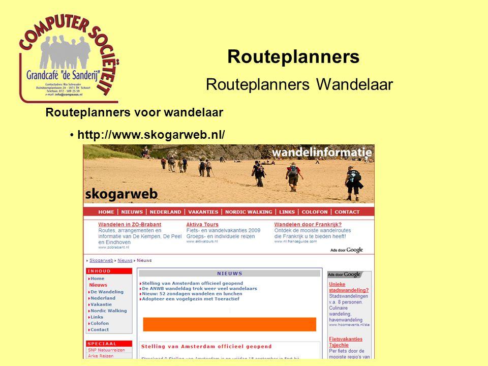 Routeplanners Wandelaar