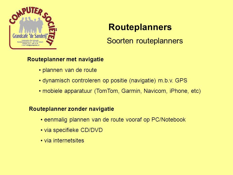 Soorten routeplanners
