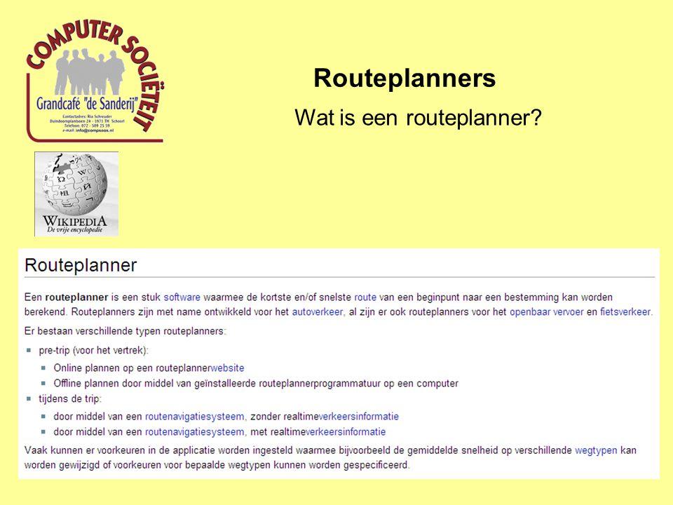 Wat is een routeplanner