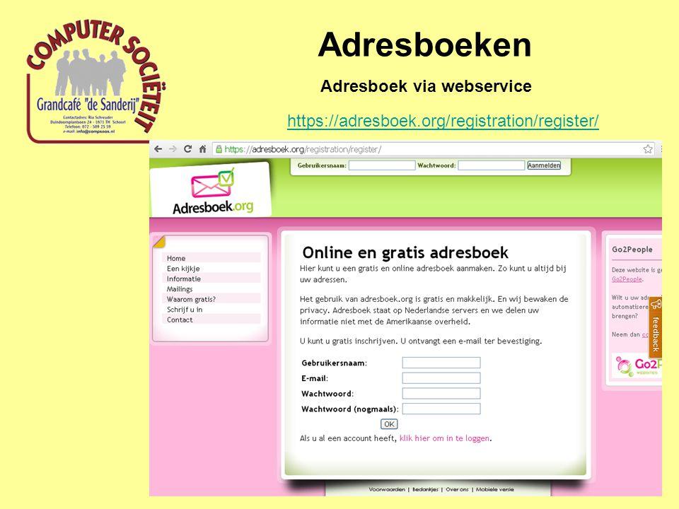 Adresboek via webservice
