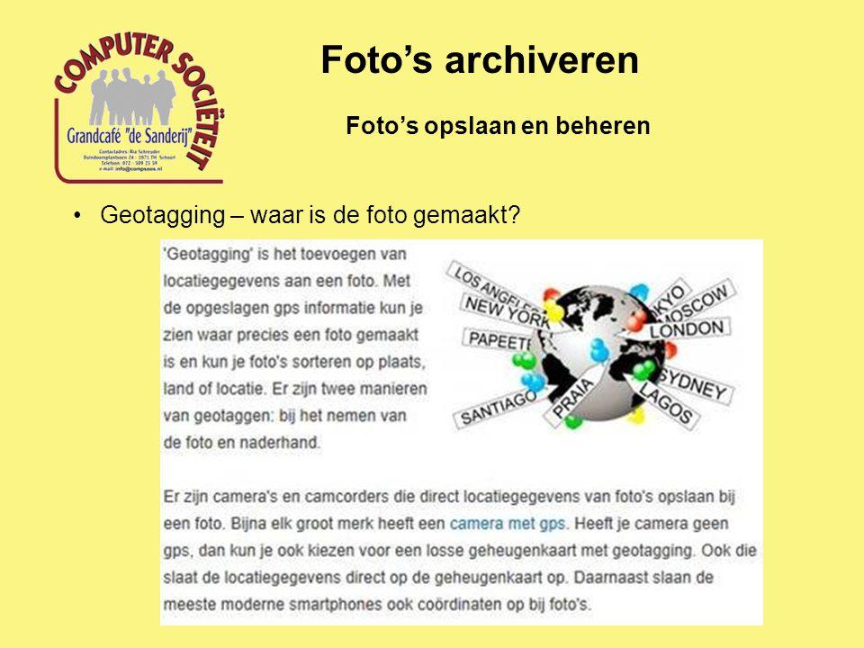 Foto's archiveren Foto's opslaan en beheren