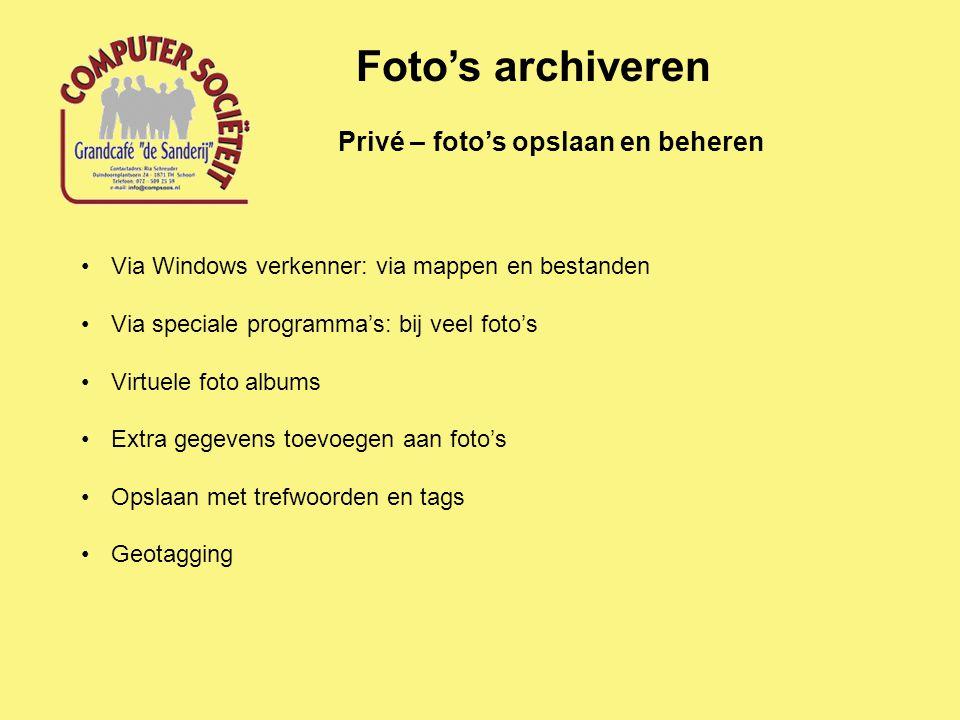 Foto's archiveren Privé – foto's opslaan en beheren