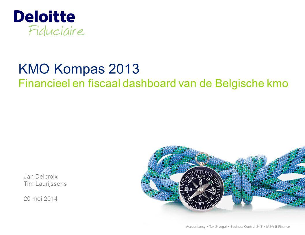 KMO Kompas 2013 Financieel en fiscaal dashboard van de Belgische kmo