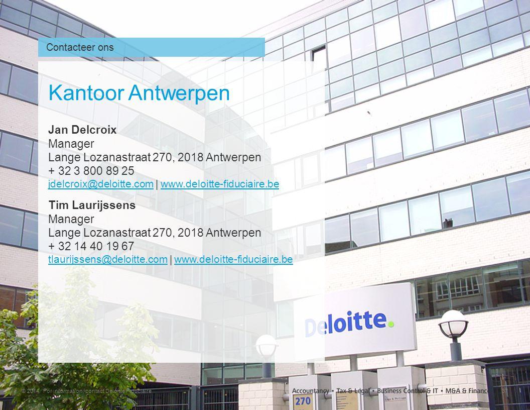 Contacteer ons Kantoor Antwerpen.
