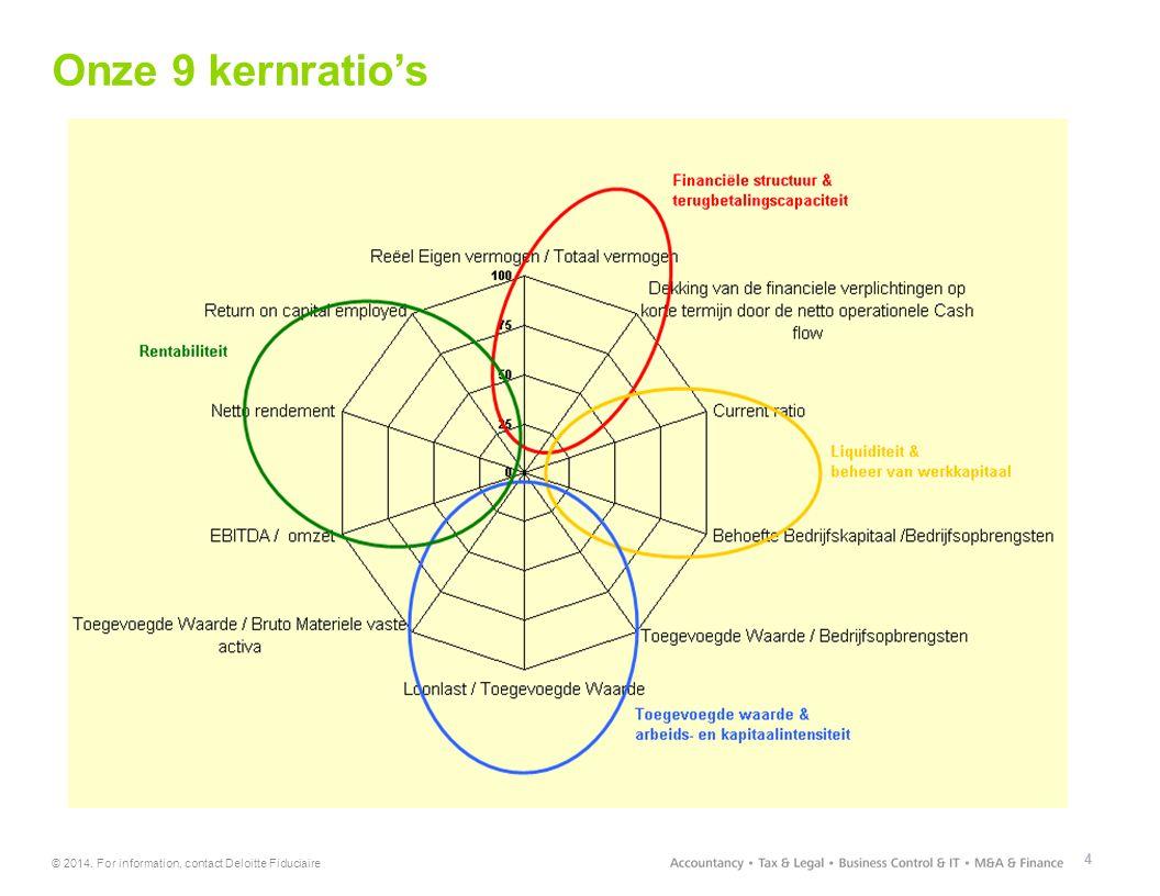 Onze 9 kernratio's Achter de schermen van het kmo kompas