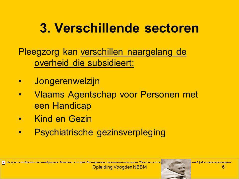 3. Verschillende sectoren