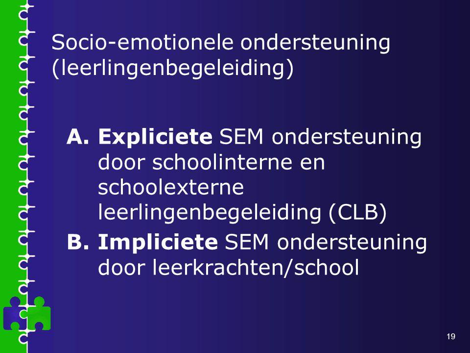 Socio-emotionele ondersteuning (leerlingenbegeleiding)