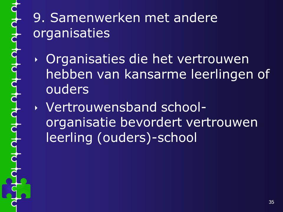 9. Samenwerken met andere organisaties