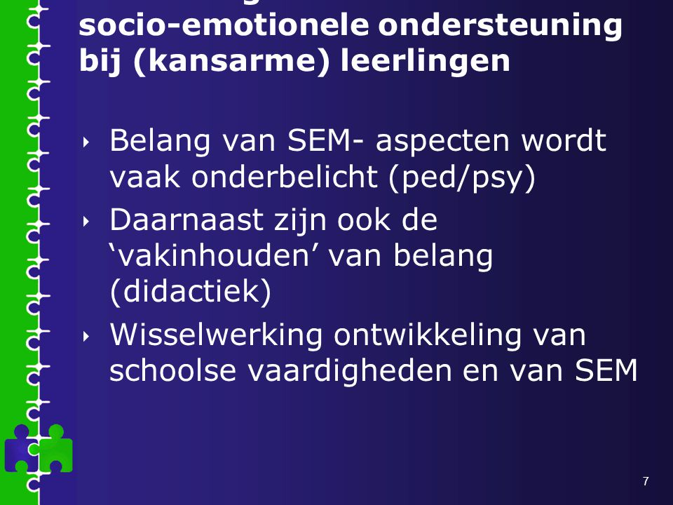 Het belang van socio-emotionele ondersteuning bij (kansarme) leerlingen