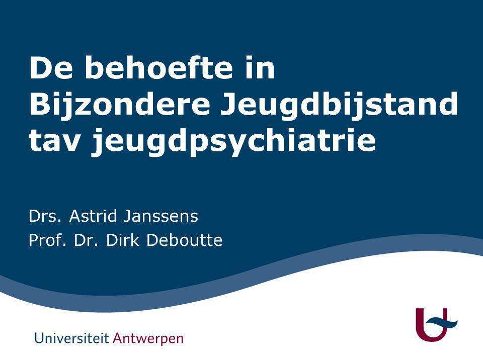 Het BIJPASS project Wat is behoefte inzake samenwerking tussen bijzondere jeugdbijstand en kinder- en jeugdpsychiatrie