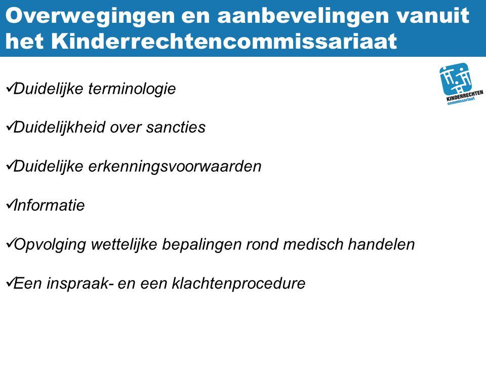 Overwegingen en aanbevelingen vanuit het Kinderrechtencommissariaat