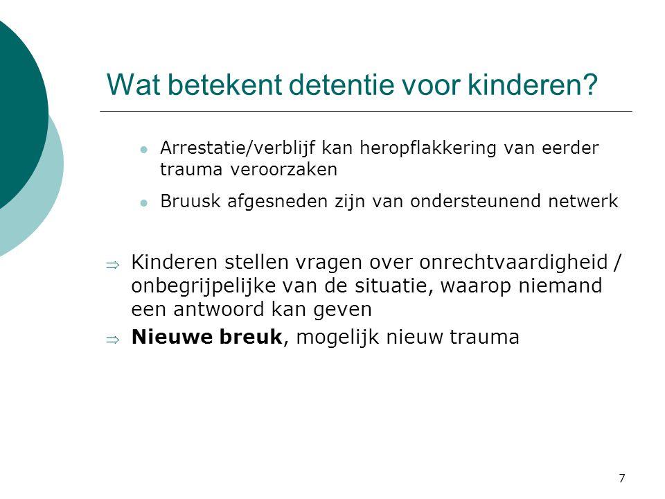 Wat betekent detentie voor kinderen
