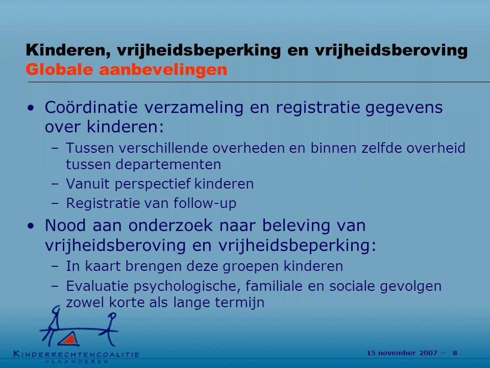 Coördinatie verzameling en registratie gegevens over kinderen: