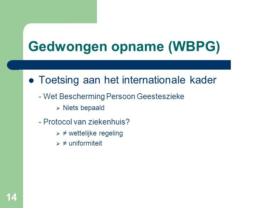 Gedwongen opname (WBPG)