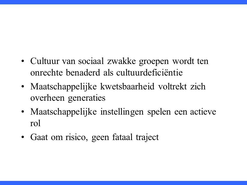Cultuur van sociaal zwakke groepen wordt ten onrechte benaderd als cultuurdeficiëntie
