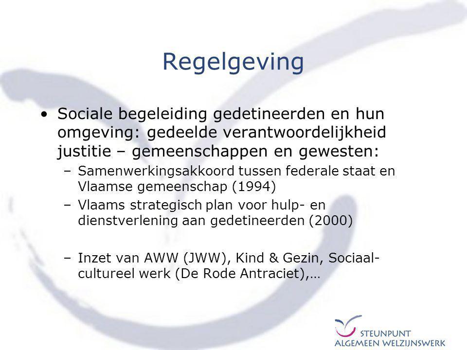 Regelgeving Sociale begeleiding gedetineerden en hun omgeving: gedeelde verantwoordelijkheid justitie – gemeenschappen en gewesten:
