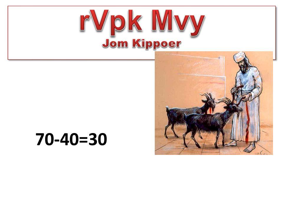 rVpk Mvy Jom Kippoer 70-40=30