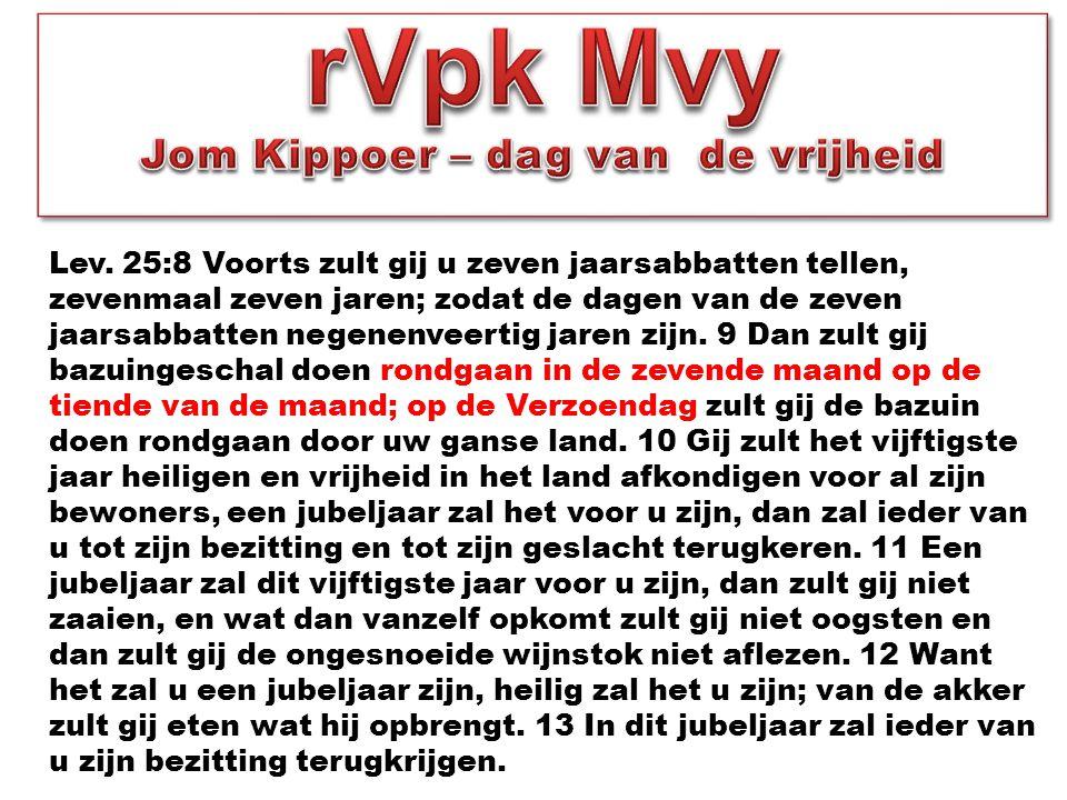 rVpk Mvy Jom Kippoer – dag van de vrijheid