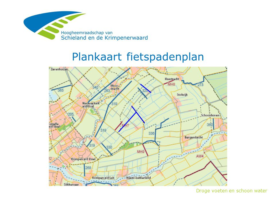 Plankaart fietspadenplan
