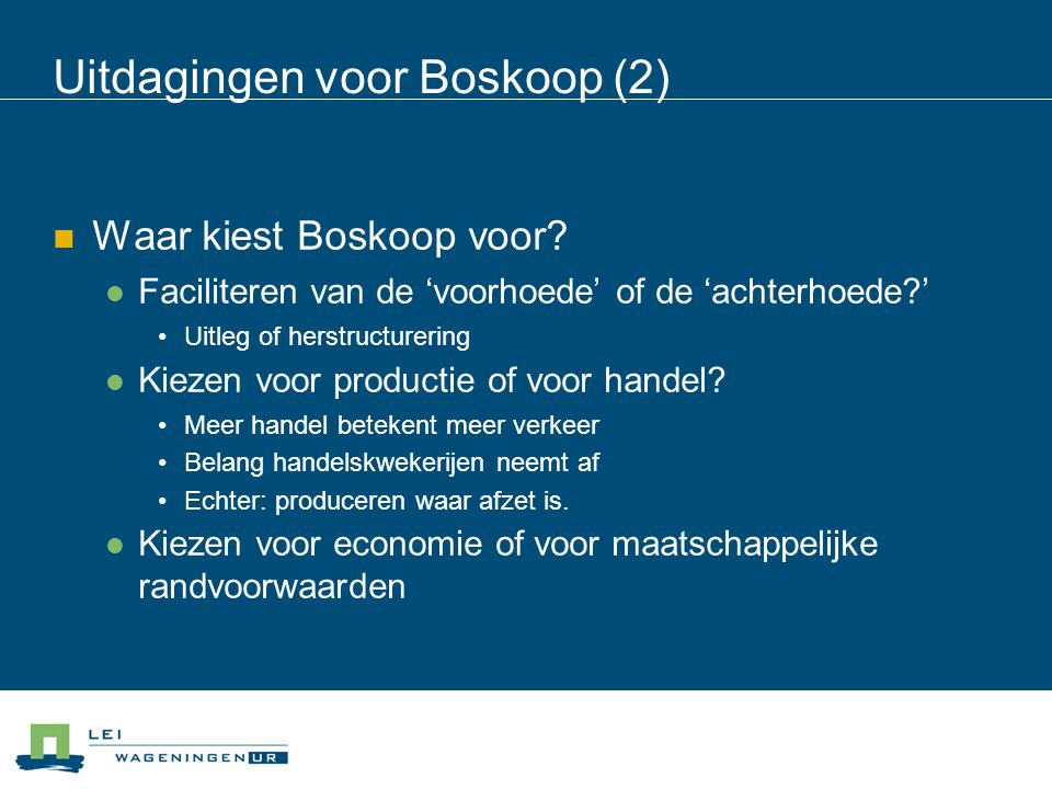 Uitdagingen voor Boskoop (2)