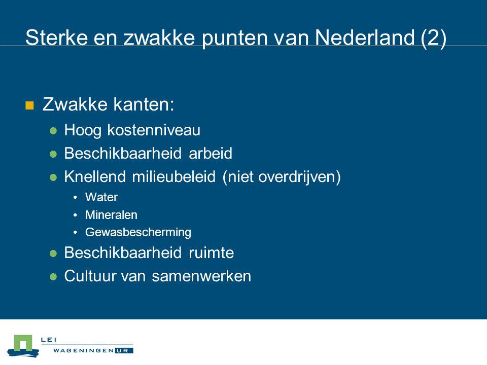 Sterke en zwakke punten van Nederland (2)