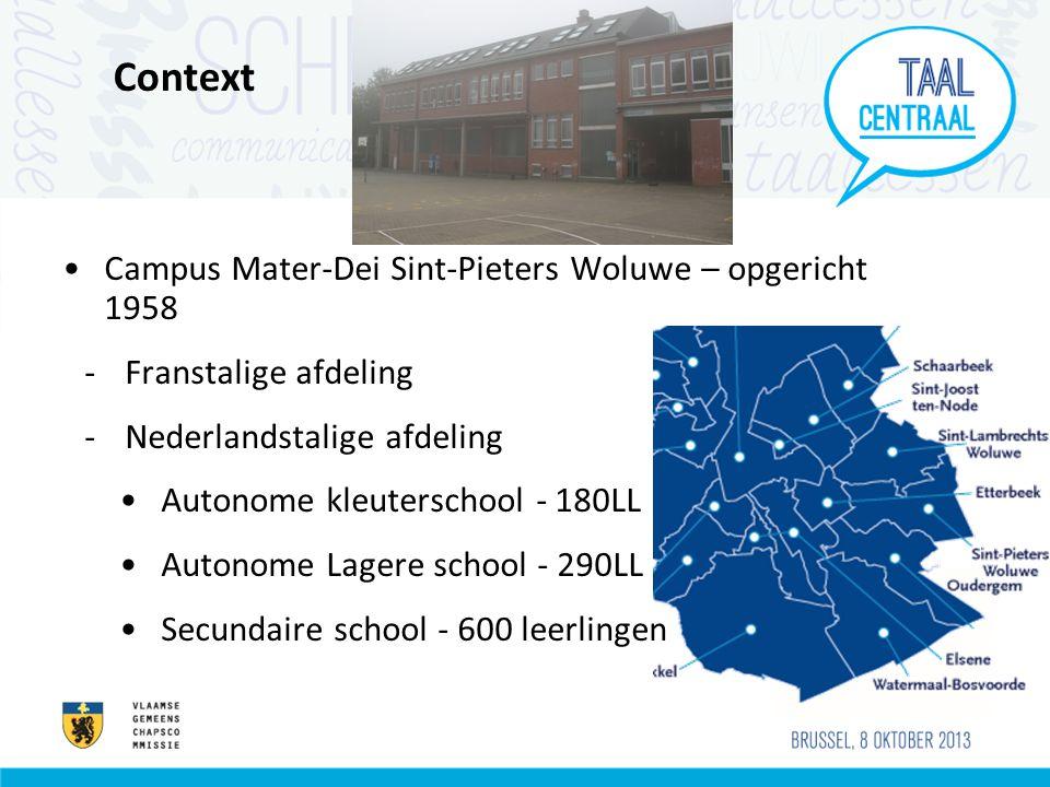 Context Campus Mater-Dei Sint-Pieters Woluwe – opgericht 1958