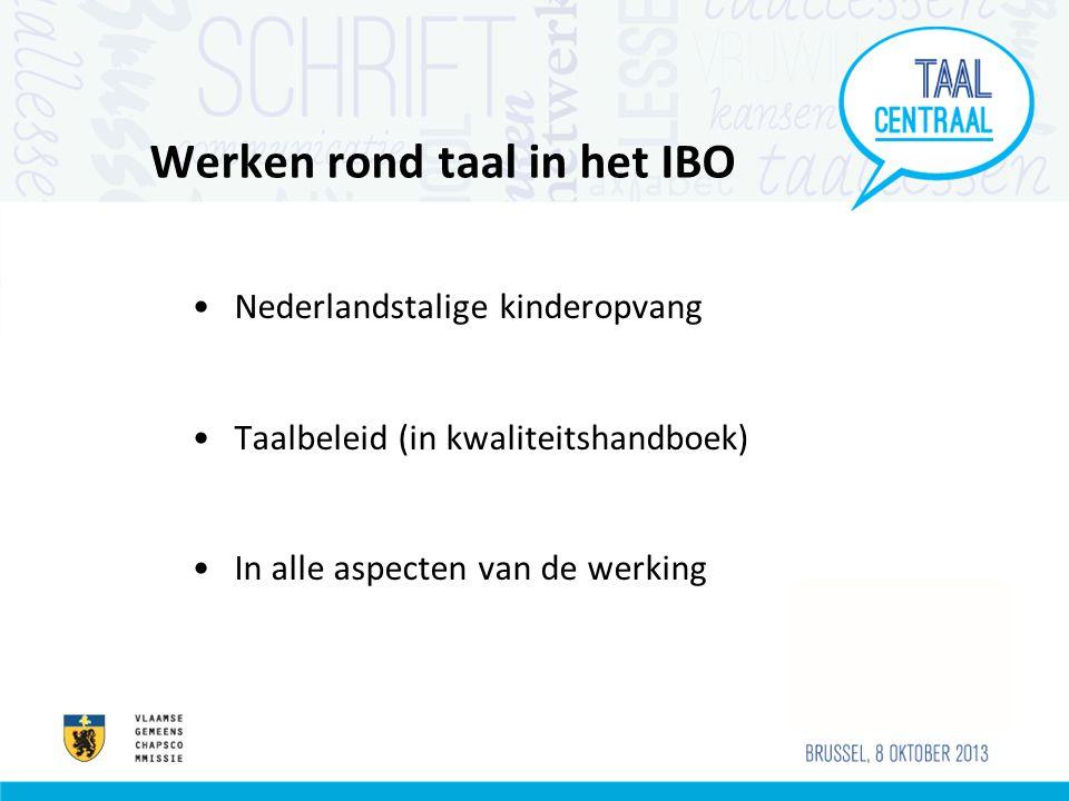 Werken rond taal in het IBO