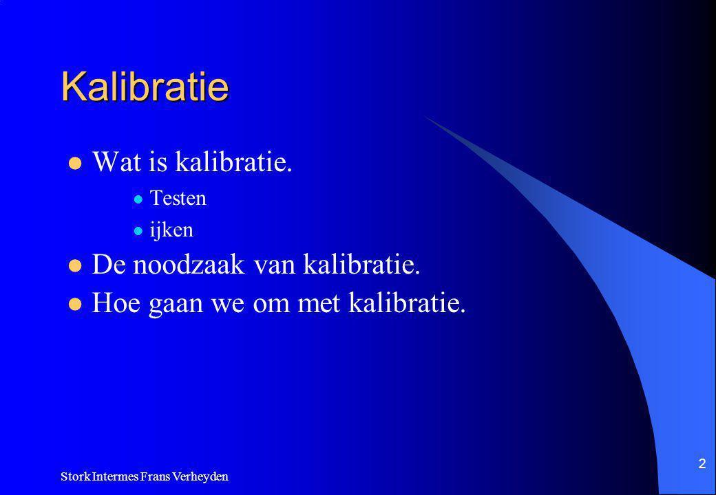 Kalibratie Wat is kalibratie. De noodzaak van kalibratie.