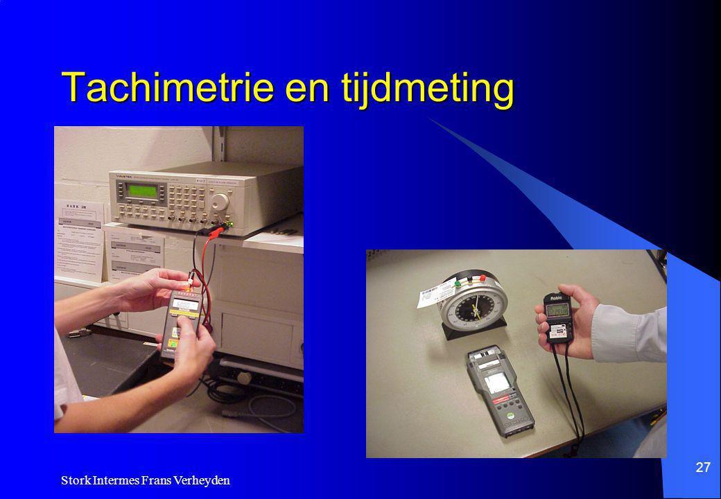 Tachimetrie en tijdmeting