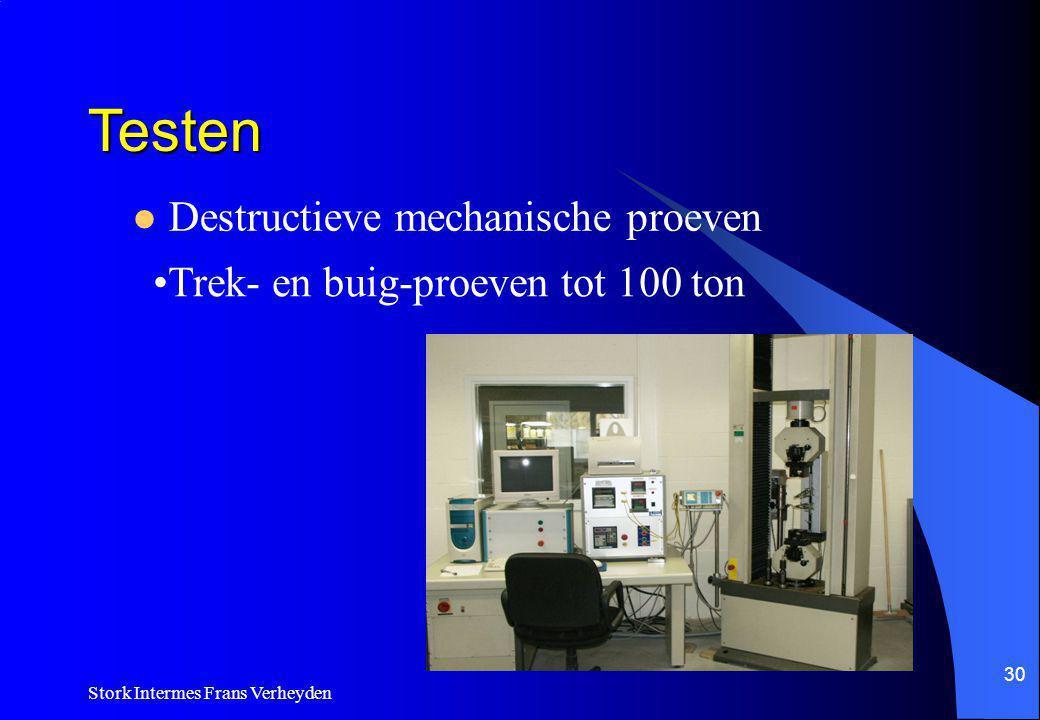 Testen Destructieve mechanische proeven