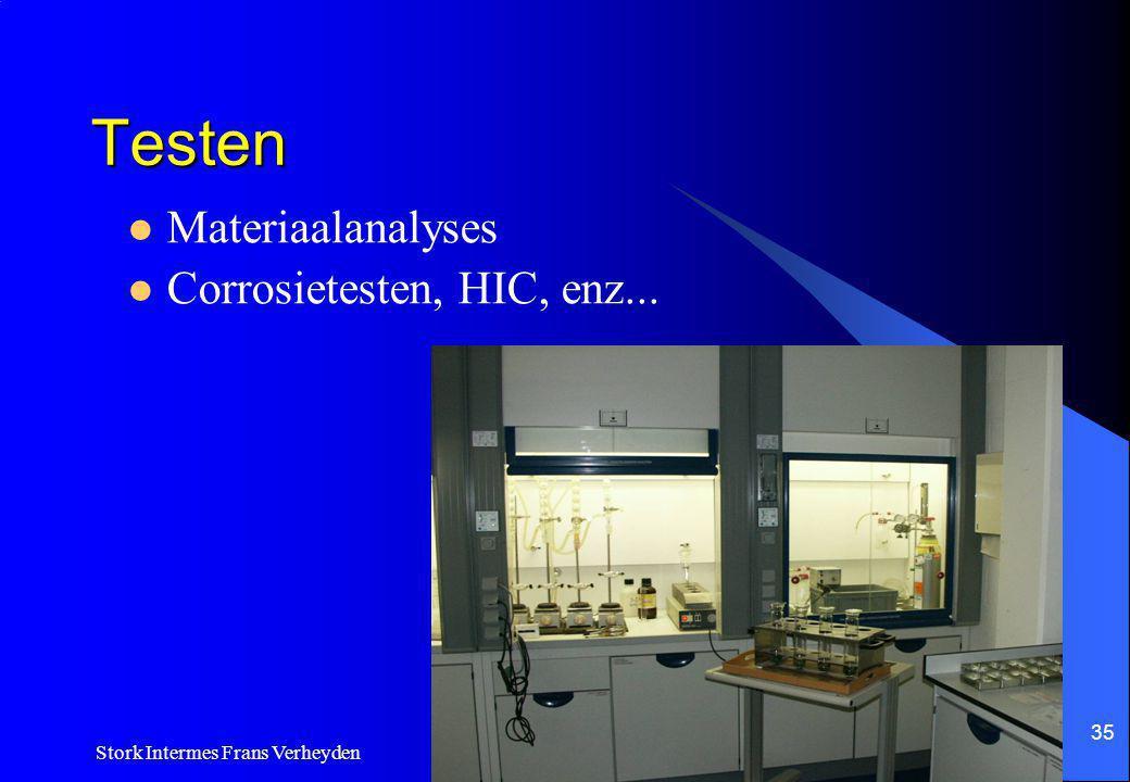 Testen Materiaalanalyses Corrosietesten, HIC, enz...