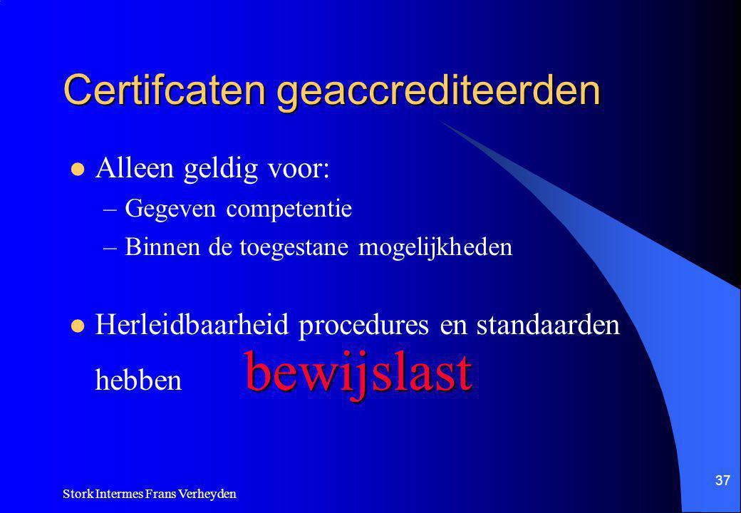 Certifcaten geaccrediteerden
