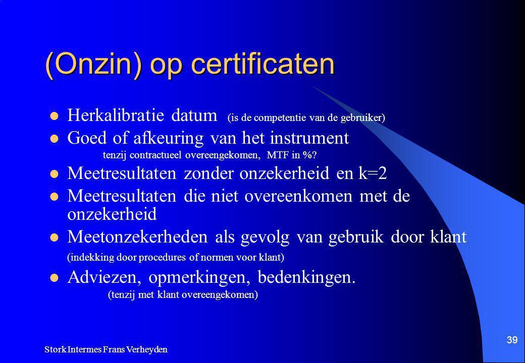 (Onzin) op certificaten