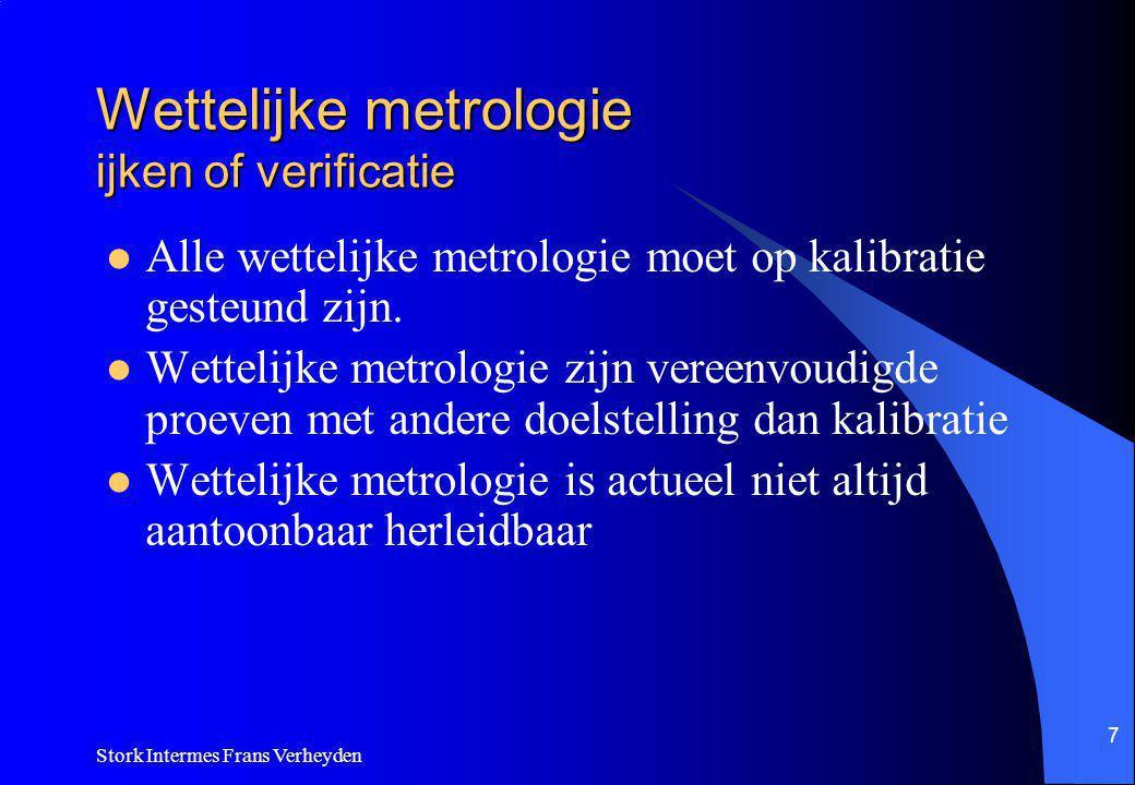 Wettelijke metrologie ijken of verificatie