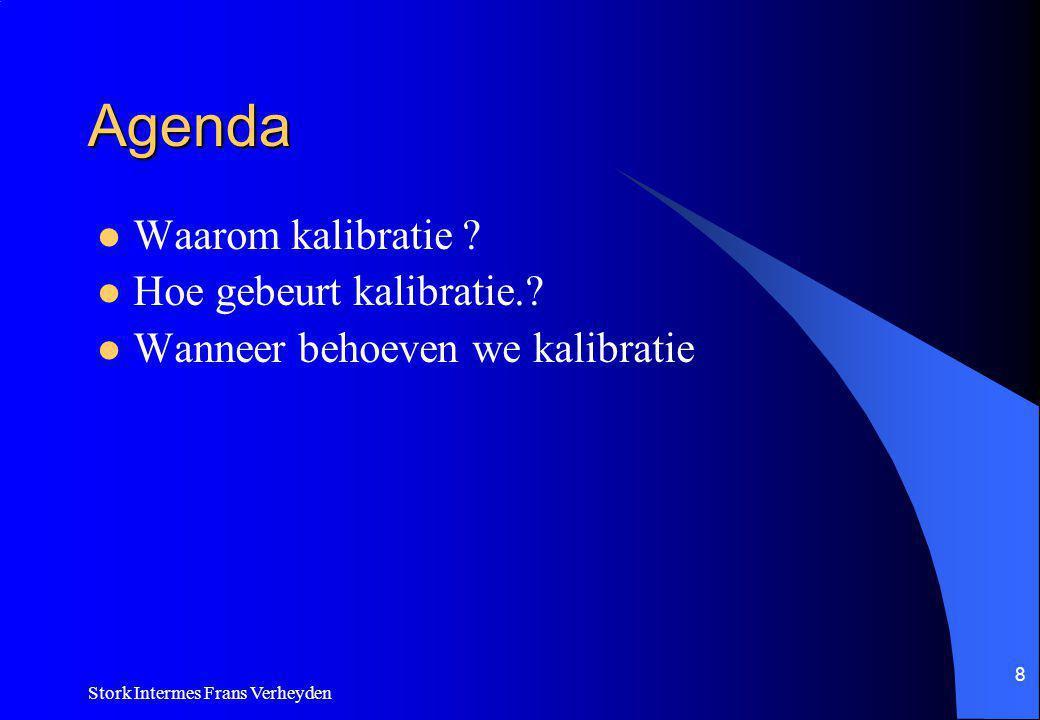 Agenda Waarom kalibratie Hoe gebeurt kalibratie.