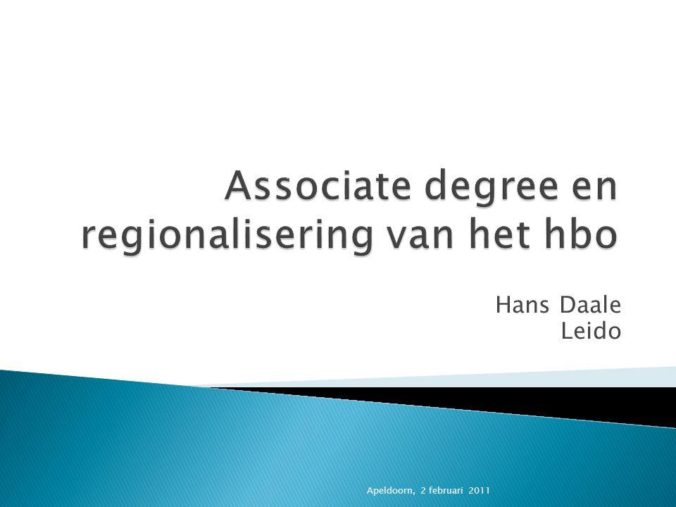 Associate degree en regionalisering van het hbo