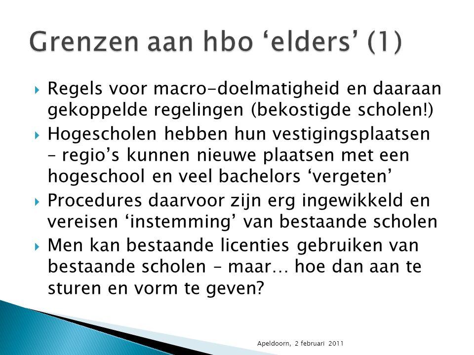 Grenzen aan hbo 'elders' (1)