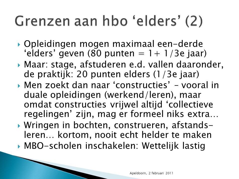 Grenzen aan hbo 'elders' (2)