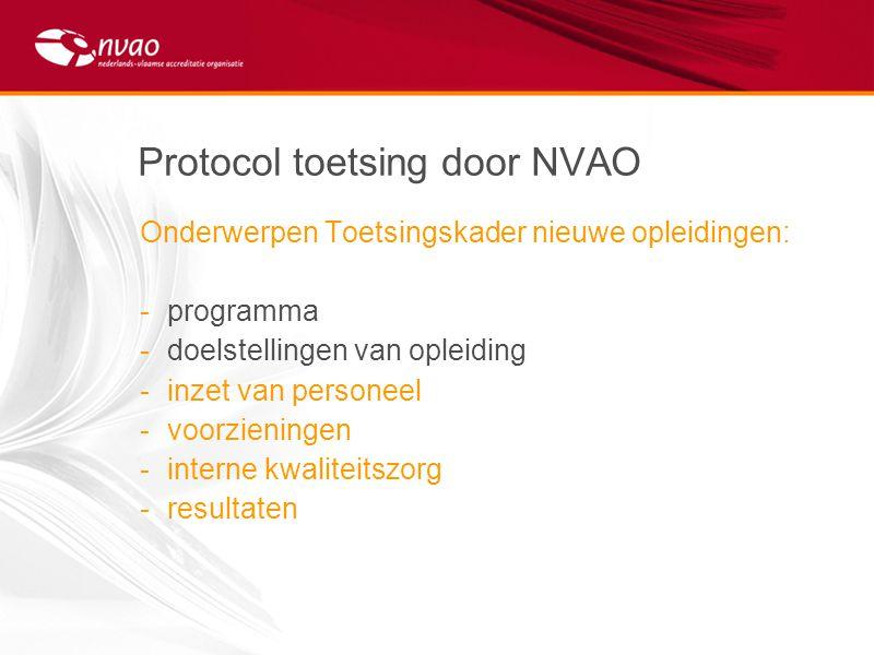 Protocol toetsing door NVAO