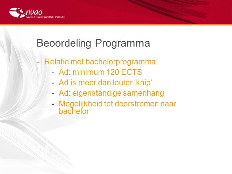 Beoordeling Programma