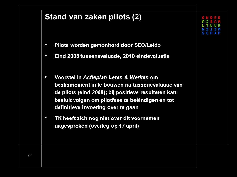 Stand van zaken pilots (3)