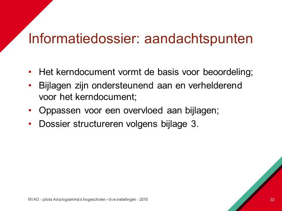 Informatiedossier: aandachtspunten