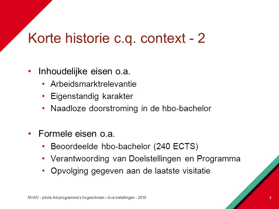 Korte historie c.q. context - 2