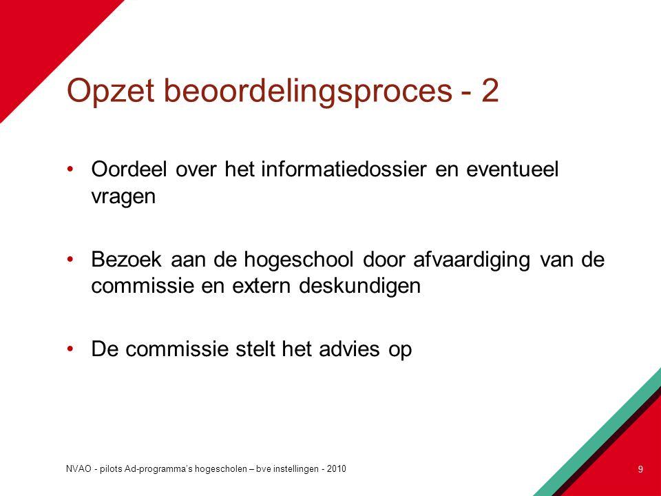 Opzet beoordelingsproces - 2