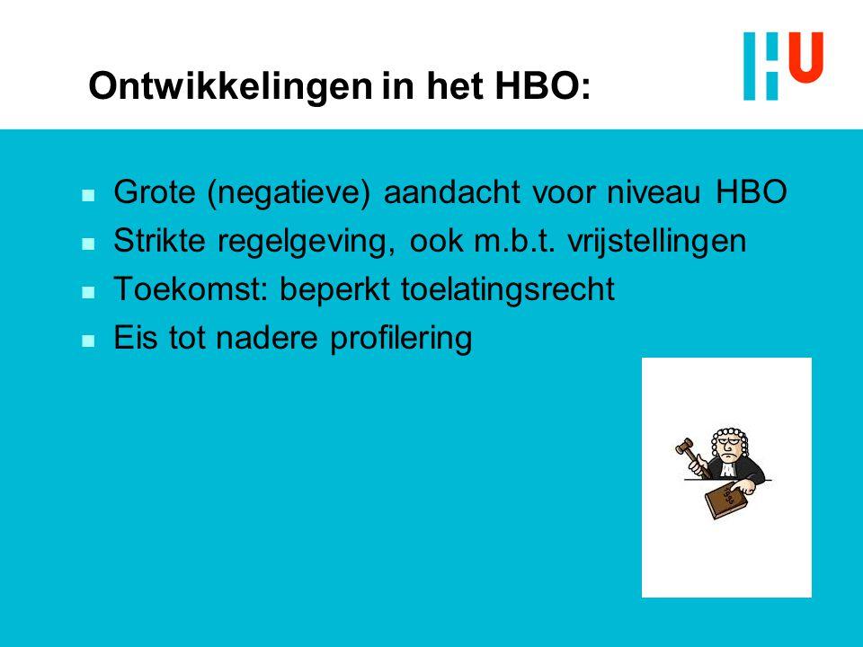 Ontwikkelingen in het HBO: