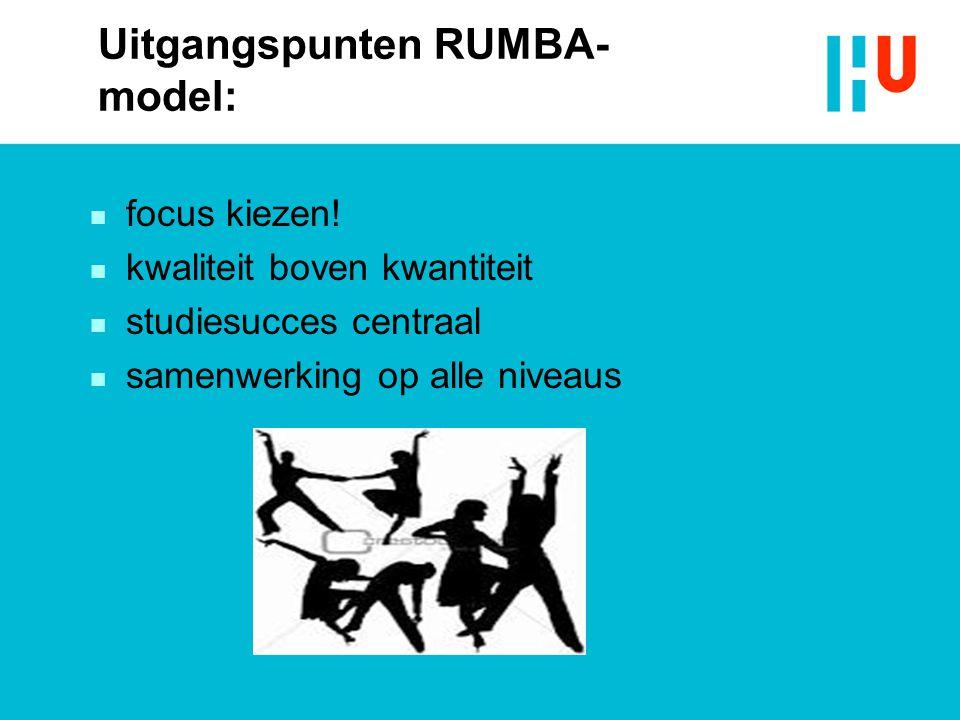 Uitgangspunten RUMBA-model: