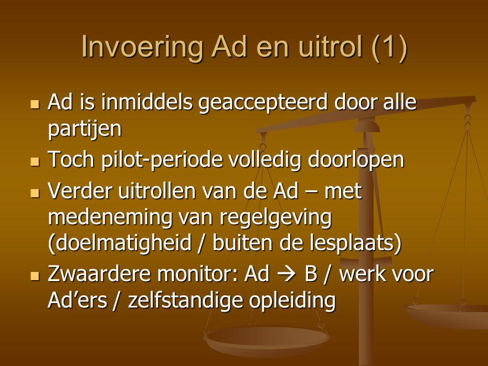 Invoering Ad en uitrol (1)