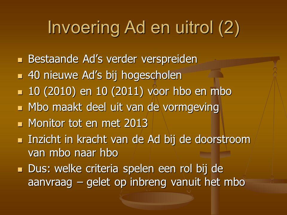 Invoering Ad en uitrol (2)